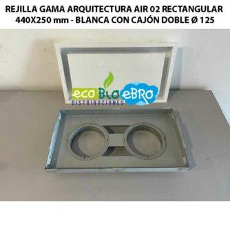 REJILLA-GAMA-ARQUITECTURA-AIR-02-RECTANGULAR-440X250-mm---BLANCA-CON-CAJÓN-DOBLE-Ø-125 ecobioebro