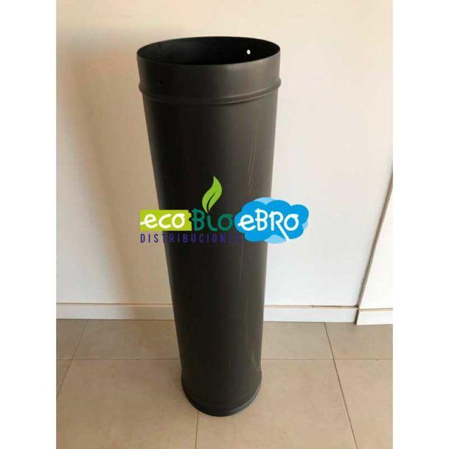 TUBO-1000-mm-ACERO-VITRIFICADO-NEGRO-MATE-Ø250-ecobioebro