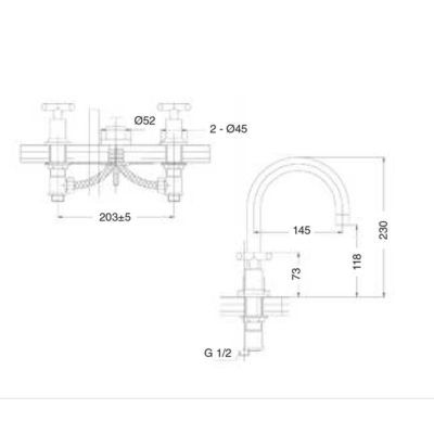 esquema-bateria-lavabo-caño-central-jalon-ecobioebro