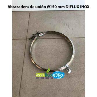 Abrazadera de unión Ø150 mm DIFLUX INOX ECOBIOEBRO