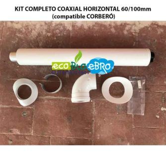 KIT COMPLETO COAXIAL HORIZONTAL 60:100mm (compatible CORBERÓ) ecobioebro