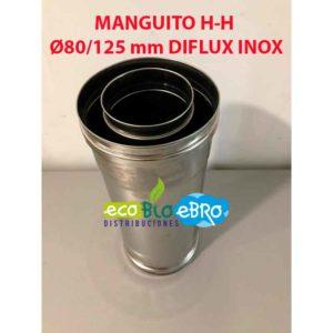 MANGUITO H-H Ø80:125 mm DIFLUX INOX ecobioebro