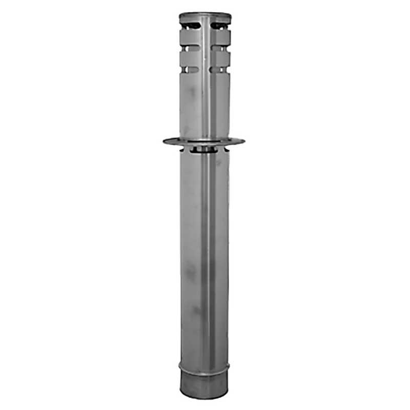 SOMBRERETE VERTICAL Ø80 x 890 mm DIFLUX INOX