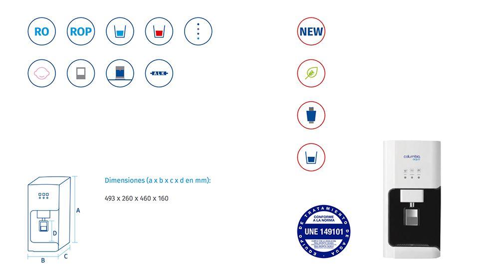 CARACTERISTICAS-FUENTE-AGUA-COLUMBIA-SOBREMESA-FC750-F-S--ECOBIOEBRO