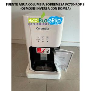 FUENTE-AGUA-COLUMBIA-SOBREMESA-FC750-ROP-S-(OSMOSIS-INVERSA-CON-BOMBA) ecobioebro