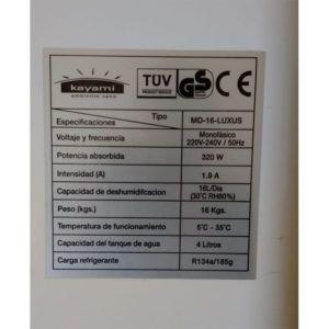 ETIQUETA-PLACA-ELECTRÓNICA-DESHUMIDIFICADOR-KAYAMI-(MD-16-LUXUS)-ECOBIOEBRO