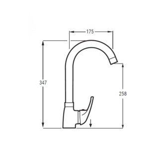 dimensiones-Monomando-Fregadera-Cerler-Caño-Tubo-ecobioebro