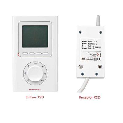 CRONOTERMOSTATO DE AMBIENTE DIGITAL SIN HILOS (X2D) emisor y receptor
