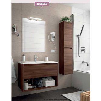 Mueble-de-baño-Noja-600-(cajón-hueco)-acacia-marron-ecobioebro