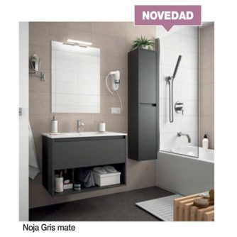 Mueble-de-baño-Noja-600-(cajón-hueco)-gris-mate-ecobioebro