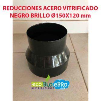 REDUCCIONES ACERO VITRIFICADO NEGRO BRILLO 150-120 ecobioebro
