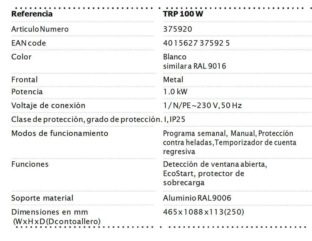 FICHA-TECNICA-RADIADOR-TOALLERO-ELÉCTRICO-TRP-100-W-(BLANCO)-ECOBIOEBRO