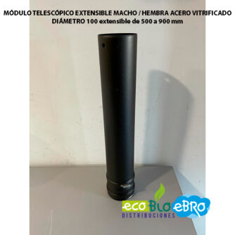 MÓDULO-TELESCÓPICO-EXTENSIBLE-MACHO---HEMBRA-ACERO-VITRIFICADO-diametro-100-mm-ecobioebro