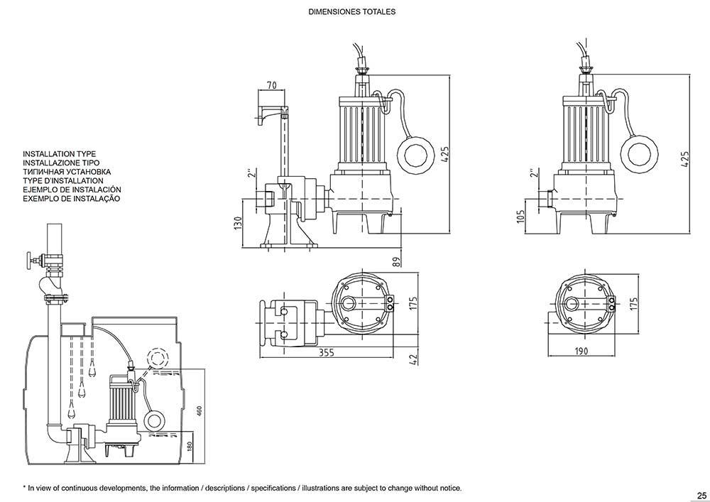 """dimensiones-Bomba-Vortex-0'8kW.-Salida-2""""-con-boya-(GB-CV08-DM-AR)-ecobioebro"""