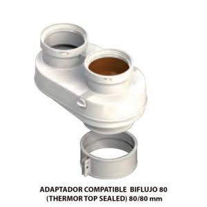 ADAPTADOR-COMPATIBLE--BIFLUJO-80-(THERMOR-TOP-SEALED)-ecobioebro