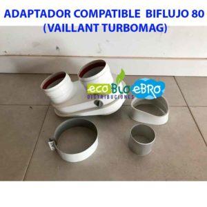 ADAPTADOR COMPATIBLE BIFLUJO 80 (VAILLANT TURBOMAG) ecobioebro