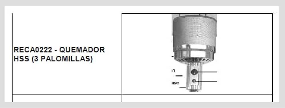 REPUESTO-COMPLETO-RECA0222-(QUEMADOR-HSS-3-PALOMILLAS)-ECOBIOEBRO