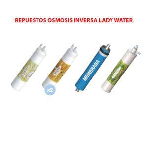 REPUESTOS-OSMOSIS-INVERSA-LADY-WATER-ORIGINALES-ECOBIOEBRO