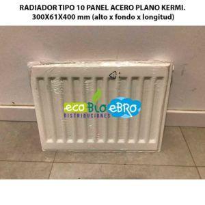 RADIADOR-TIPO-10-PANEL-ACERO-PLANO-KERMI.--300X61X400-mm-(alto-x-fondo-x-longitud)-ecobioebro