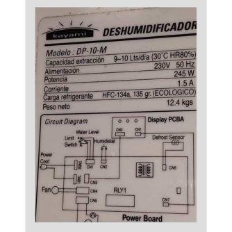 CONEXIONES-PLACA-ELECTRÓNICA-DESHUMIDIFICADOR-KAYAMI-(SERIE-DP-10M)-ecobioebro