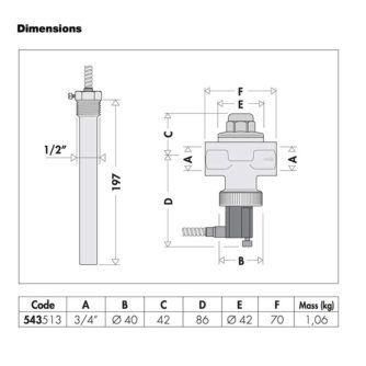 Dimensiones-Válvula-de-descarga-de-seguridad-térmica-34'-(CALEFFI)-ECOBIOEBRO