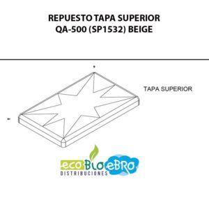 REPUESTO-TAPA-SUPERIOR-QA-500-(SP1532)-BEIGE-ecobioebro