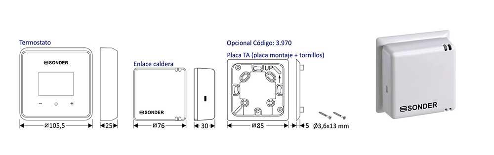 dimensiones-Termostato-digital-para-calefacción-y-refrigeración,-programable-SIESTA-105-WIFI-ecobioebro
