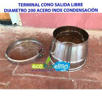 TERMINAL-CONO-SALIDA-LIBRE-DIAMETRO-200-ACERO-INOX-CONDENSACIÓN-ecobioebro