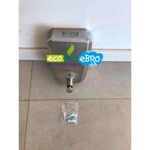AMBIENTE DISPENSADOR DE GEL ACERO INOX VERTICAL CR-1.0 litros