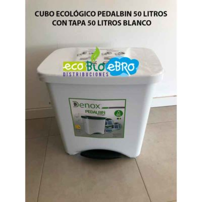 CUBO ECOLÓGICO PEDALBIN 50 LITROS CON TAPA ECOBIOEBRO