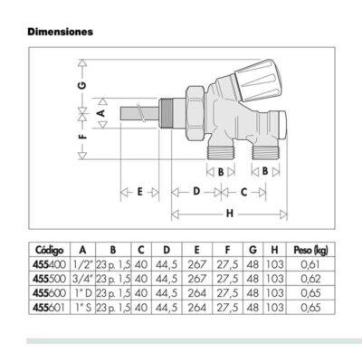 DIMENSIONES-LLAVE-MONOTUBO-CALEFFI-ECOBIOEBRO