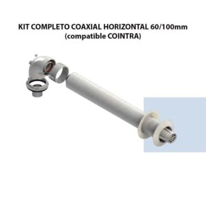 KIT COMPLETO COAXIAL HORIZONTAL 60:100mm (compatible COINTRA) ecobioebro