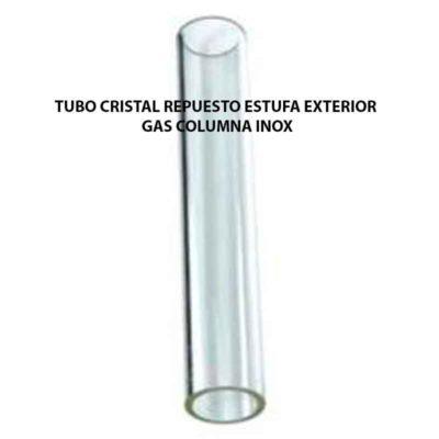 TUBO CRISTAL REPUESTO ESTUFA EXTERIOR GAS COLUMNA INOX ECOBIOEBRO
