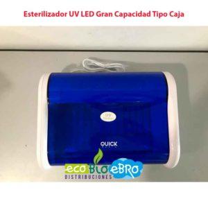 Vista Esterilizador UV LED Gran Capacidad Tipo Caja ecobioebro