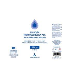 SOLUCIÓN HIDROALCOHÓLICA 70% CPI (100 ml) ASACPHARMA