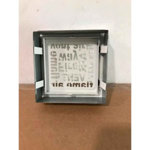 Rejilla ventilación aire caliente de 170 x 170 mm Serie Alfabeto