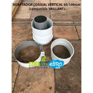 ADAPTADOR COAXIAL VERTICAL 60:100mm (compatible VAILLANT) ecobioebro