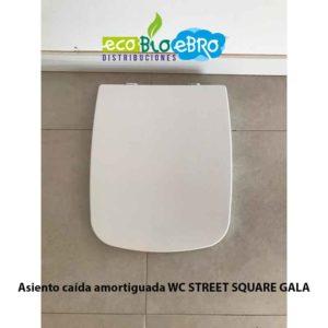 Asiento caída amortiguada WC STREET SQUARE GALA ecobioebro