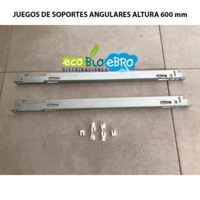 JUEGO DE SOPORTES ANGULARES PARA RADIADORES DE PANEL ACERO altura 600 ecobioebro