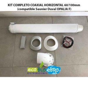 KIT COMPLETO COAXIAL HORIZONTAL 60:100mm (compatible Saunier Duval OPALIA F) ecobioebro