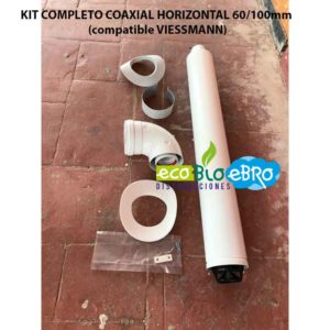 KIT COMPLETO COAXIAL HORIZONTAL 60:100mm (compatible VIESSMANN) ECOBIOEBRO