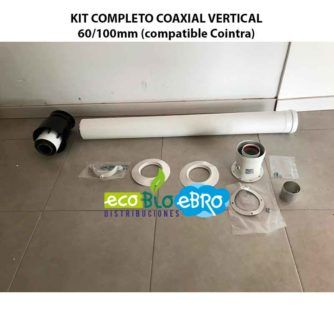 KIT COMPLETO COAXIAL VERTICAL 60:100mm (compatible Cointra) ecobioebro