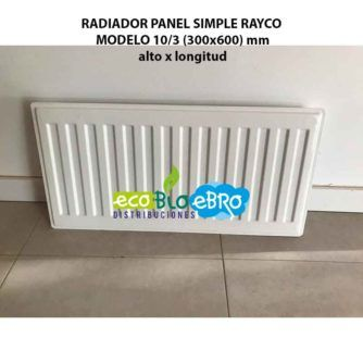 RADIADOR PANEL SIMPLE RAYCO MODELO 10:3 (300x600) mm ecobioebro