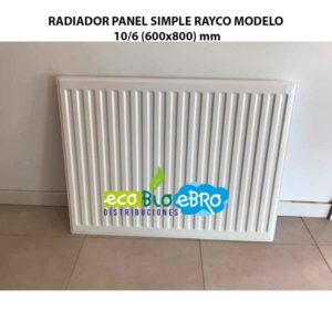 RADIADOR PANEL SIMPLE RAYCO MODELO 10:6 (600x800) mm ecobioebro