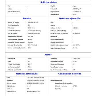 """caracteristicas Bomba Vortex 1,2kW. Salida 2"""" con boya (GB-CV12-DMs-A) aguas residuales ecobioebro"""