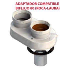 ADAPTADOR COMPATIBLE BIFLUJO 80 (ROCA-LAURA) ecobioebro