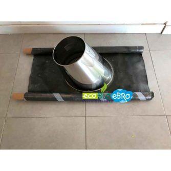 Ambiente Salida a techo 5º:30º + cubreaguas Ø100:150 mm DIFLUX INOX ecobioebro