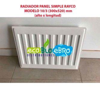 RADIADOR PANEL SIMPLE RAYCO MODELO 10:3 (300x520) mm ecobioebro