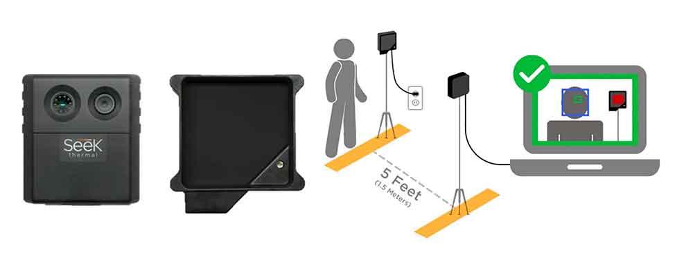 ficha Cámara térmica específica para la detección de temperatura en personas Seek Scan ecobioebro