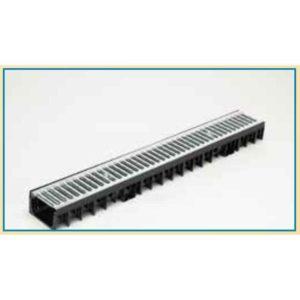 Canaleta + Rejilla Acero Galvanizado NICE – 1000 / 50 (altura 5 cm)